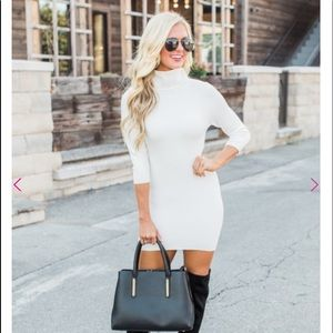 Whit sweater dress for fall